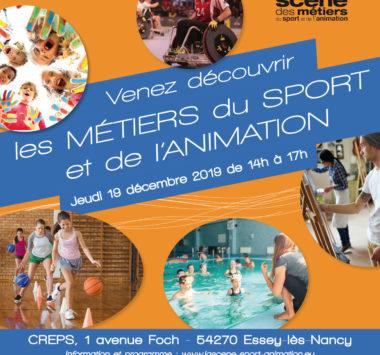Venez découvrir les métiers du sport et de l'animation !